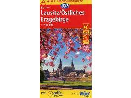 ADFC-Radtourenkarte 14 Lausitz  Östliches Erzgebir