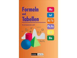 Formeln und Tabellen für die Sekundarstufen I und