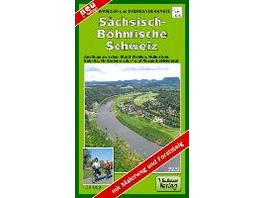 Wander- und Radwanderkarte Sächsisch-Böhmische Sch
