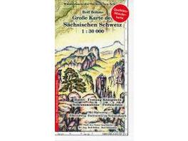 Große Karte der Sächsischen Schweiz 1 : 30 000. Re