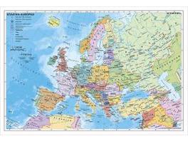 Staaten Europas, politisch 1 : 7 500 000. Wandkart
