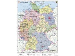 Deutschland, politisch 1 : 1 000 000. Wandkarte Kl