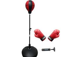 Box-Set: Punchingball, Boxhandschuhen & Minipumpe