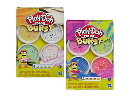 Play-Doh Color Burst Pastellfarben, 4 Dosen à 56 g