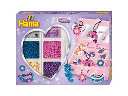HAMA 3709 Kreativbox Accessoires, 2.400 midi-Perlen & Zubehör