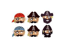Moosgummimasken Piraten, 6 Stück