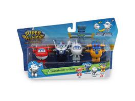 Super Wings Transform-a-Bots 4er Set: Jett, Paul, Astra, Build-It Donnie