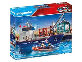 PLAYMOBIL® 70769 Großes Containerschiff mit Zollboot