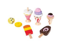 Kaufladen Eiscremeset, 12tlg. Spiellebensmittel