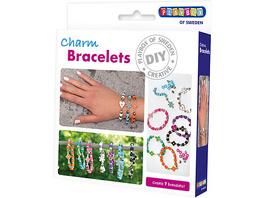 Bastelset 7 x Armband mit Charm-Anhänger